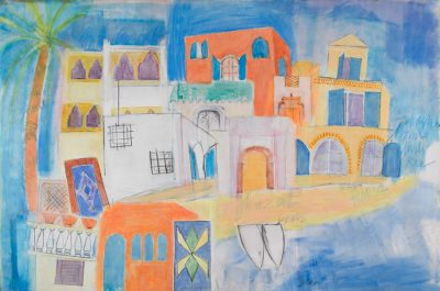 Morocco, Essaouira, buildings, boats, sea