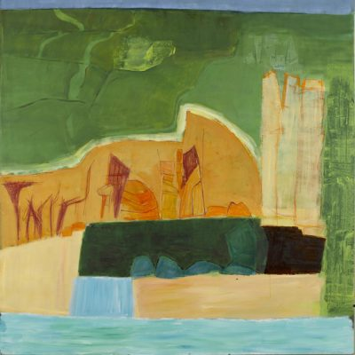 Cornwall, rocks, cliffs, sea, landscape painting