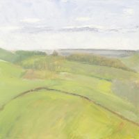 landscape, Batcombe, Somerset, oil painting