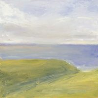 landscape, oil painting, St Just, Cornwall