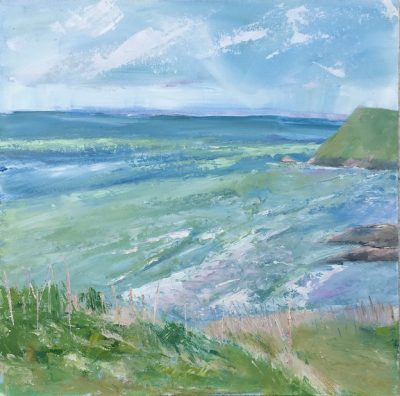 Church cove, sea , sky, landscape, cliffs, England