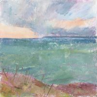 Poldhu, cornwall, sea, sky, landscape, evening