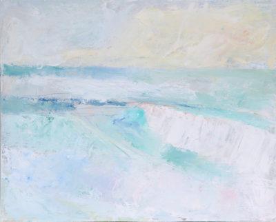 waves, sea, cornwall, landscape, painting