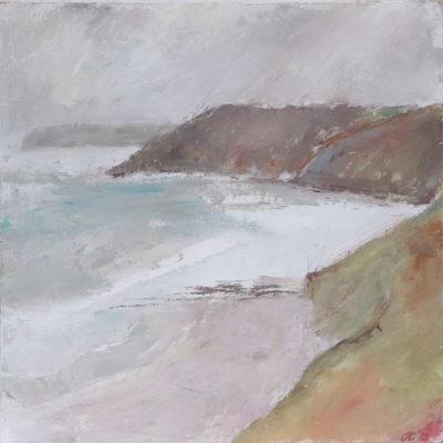 Kennack, sea, cornwall, painting, landscape