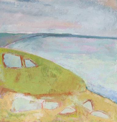 landscape, cornwall, porthleven, sea, coast, painting