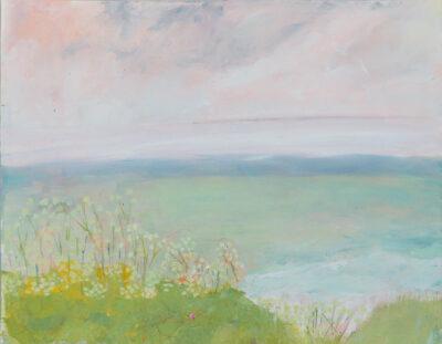 Cornwall, landscape artist, the lizard, poldhu, painter, coast path, rocks