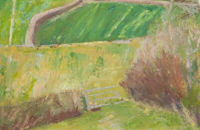 Cornwall landscape artist, fields, the Lizard, farms