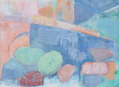 Cornwall, Carleon, Poltesco, Serpentine rock, cliffs, landscape painter
