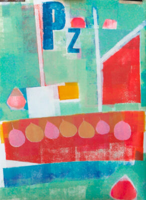 Cornwall, Helford, fishing boat, artist, printmaker, landscape