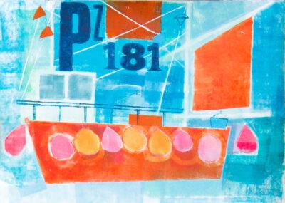 Cornwall, rivers, fishing boats, landscape artist, painter, printmaler
